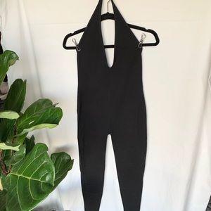 Womens black Halter Jumpsuit